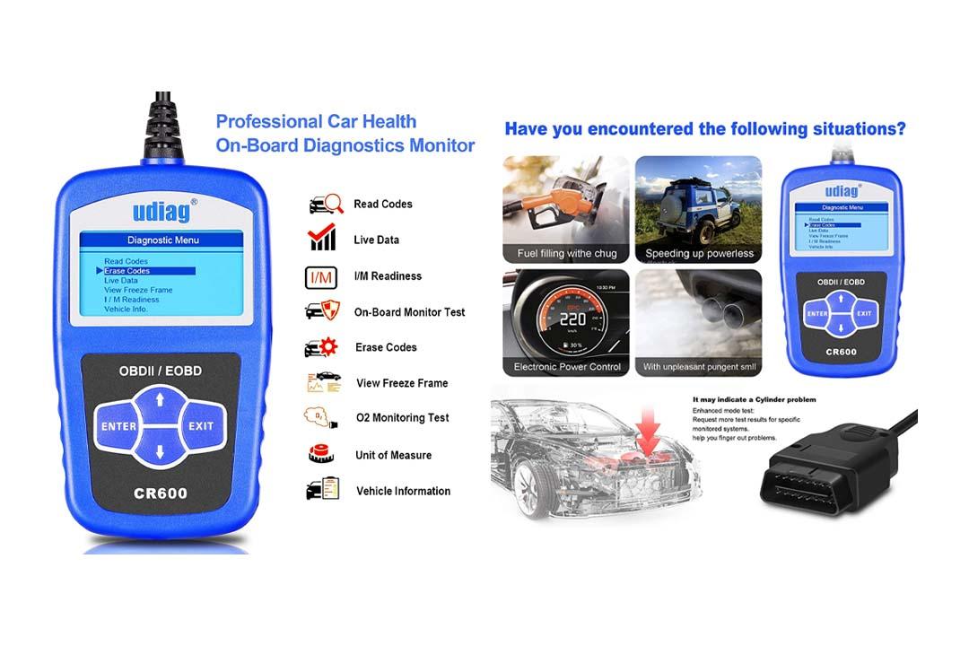 OBD2 Scanner, Udiag CR600 Classic Universal Car Engine Code Reader