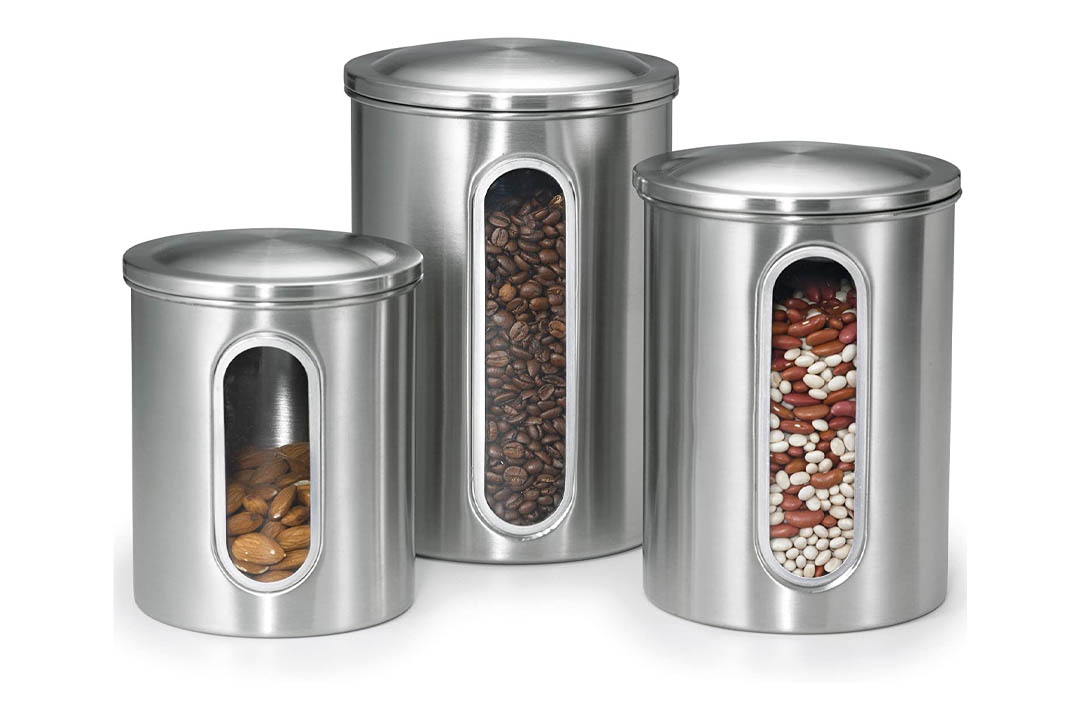 Polder Stainless Steel Window Canister Set