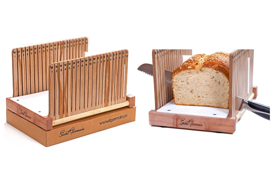 Premium Solid Wood Bread Slicer Board