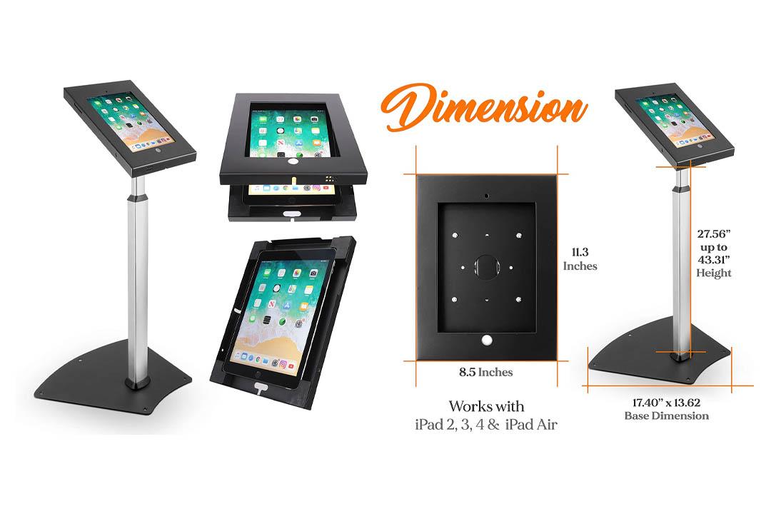 Pyle PSPADLK55 Tamper-Proof Anti-Theft iPad Kiosk Safe Security