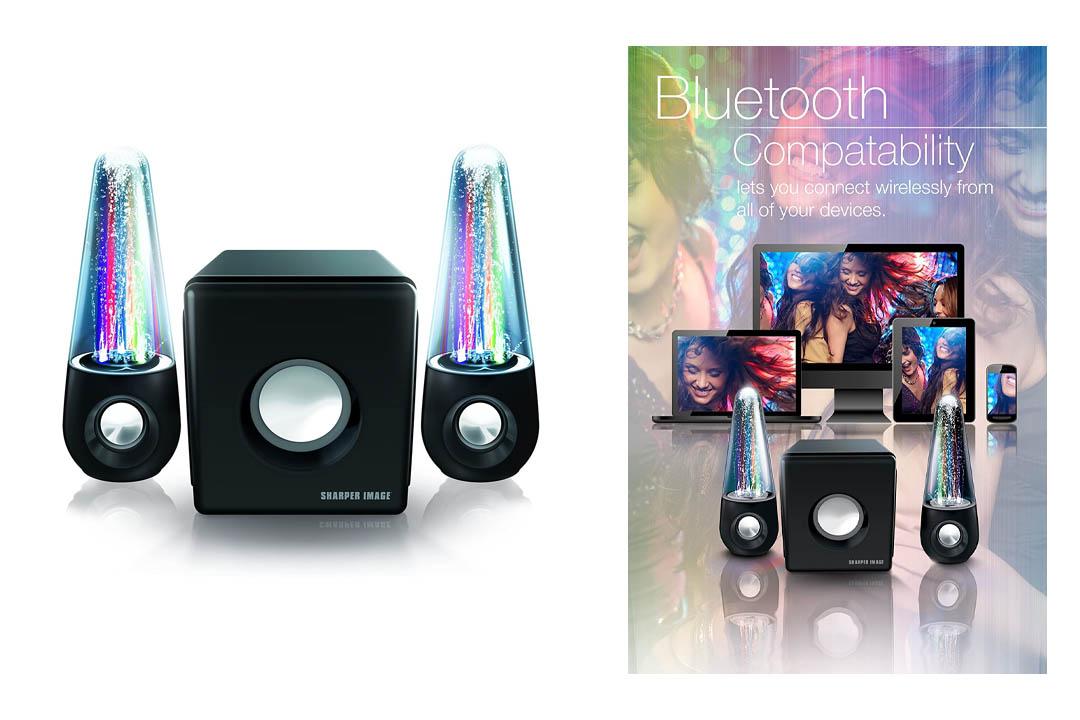 Sharper Image SBT5002 Water & Light Show Bluetooth Streaming