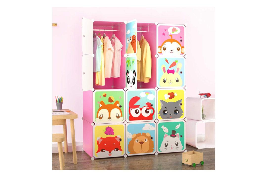 Tespo Portable Clothes Closet for Children and Kids