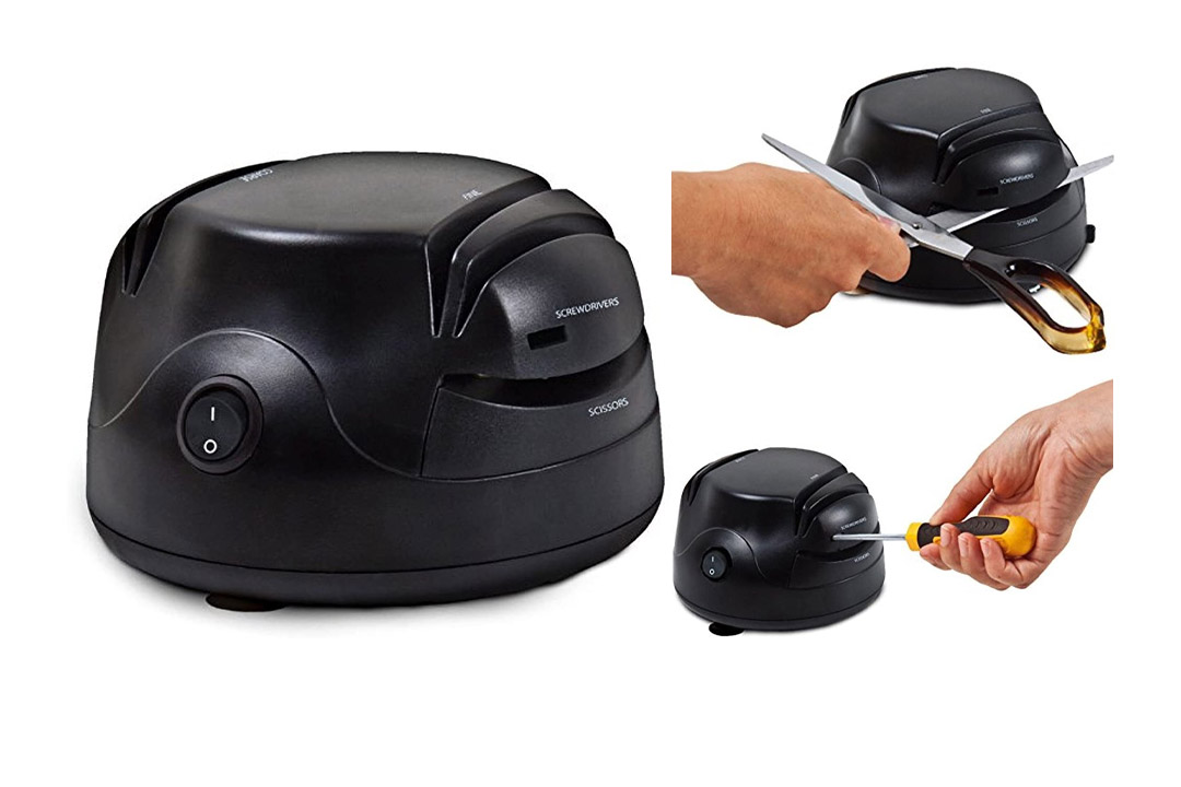 Unique Imports' 3-in-1 Electric Professional Knife Sharpener Tool
