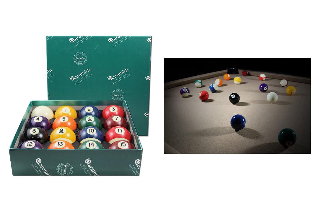 "Aramith 2-1/4"" Regulation Size Premier Billiard/Pool Balls"