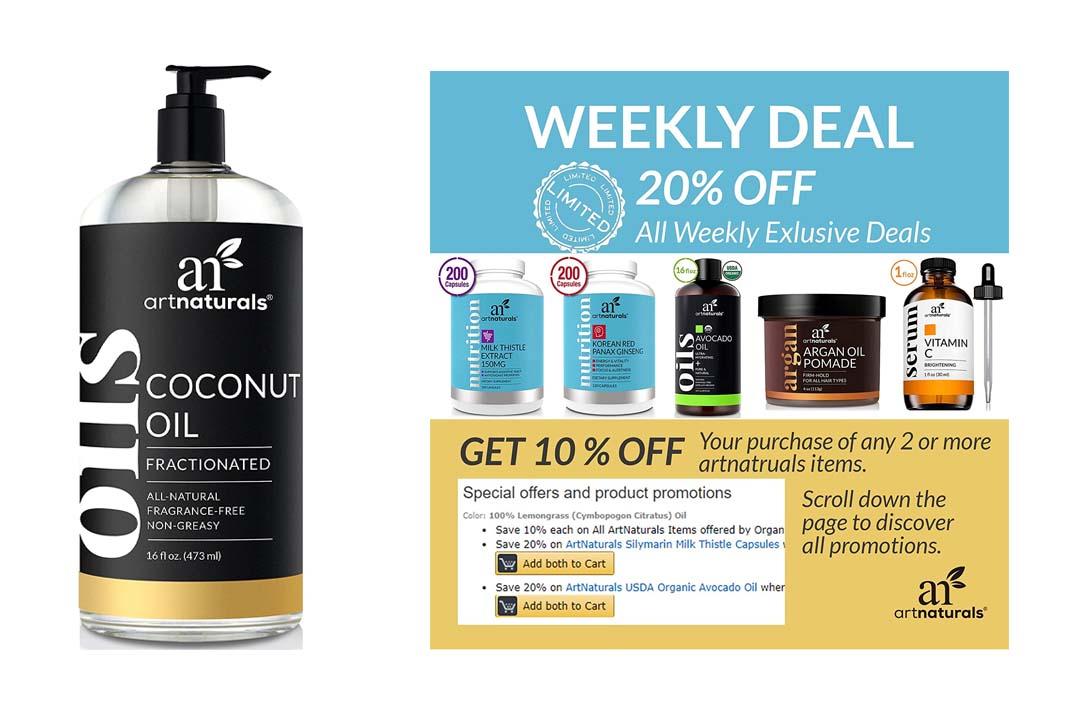 ArtNaturals Premium Fractionated Coconut Oil