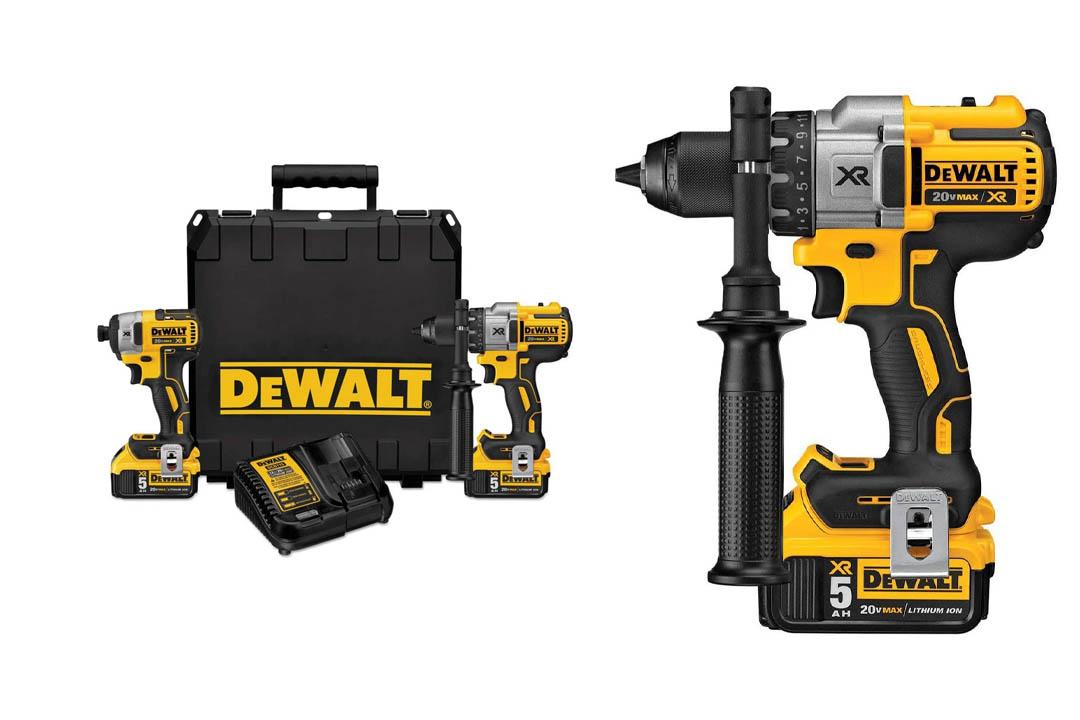 DEWALT DCK299P2 20V MAX XR Lithium Ion Brushless Premium Hammerdrill
