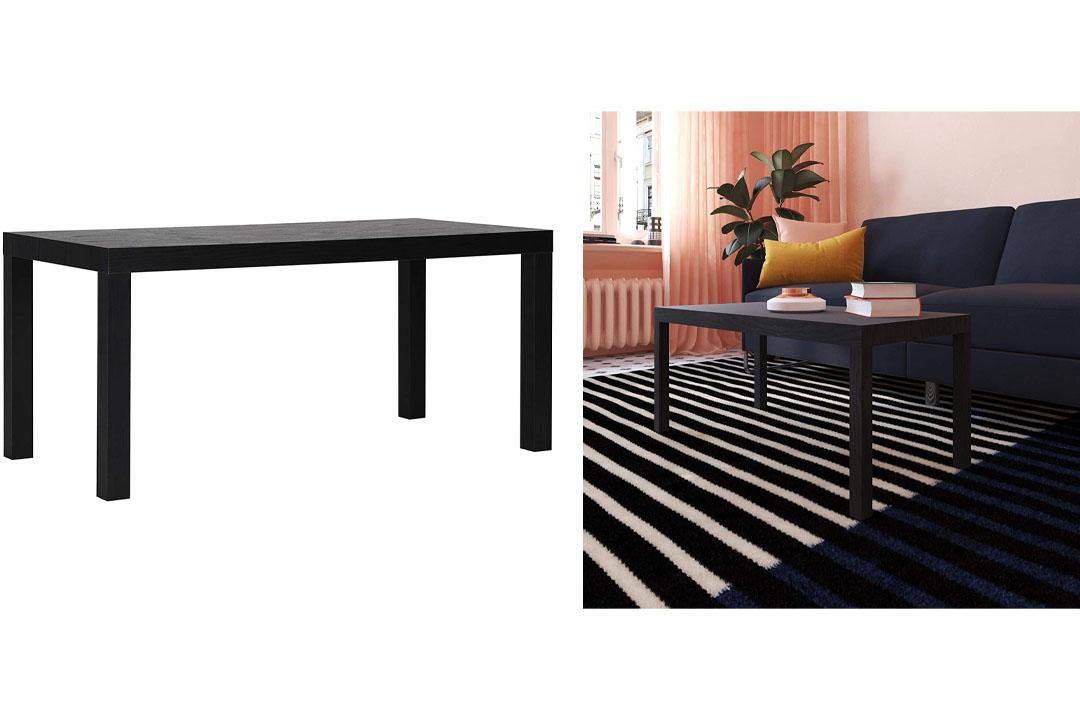 DHP Parsons Modern Coffee Table, Black Wood Grain