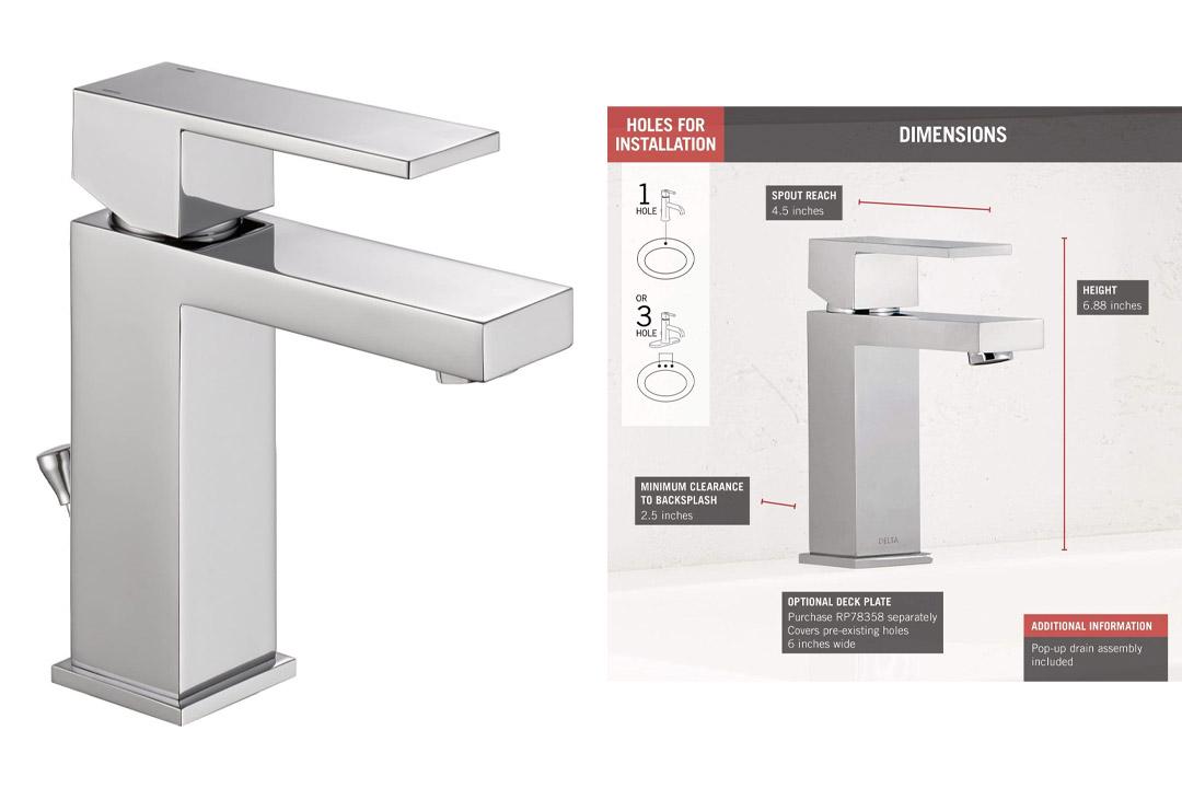 Delta Faucet 567LF-PP Modern Single Handle Bathroom Faucet