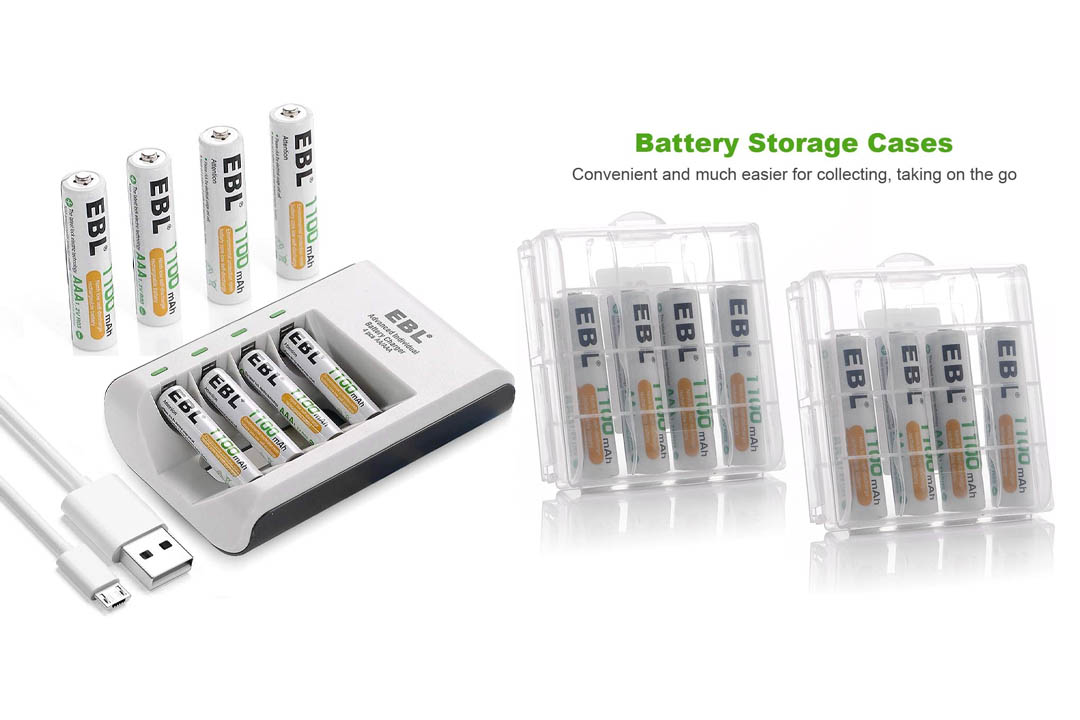 EBL AA AAA Rechargeable Battery Individual Rapid Charger