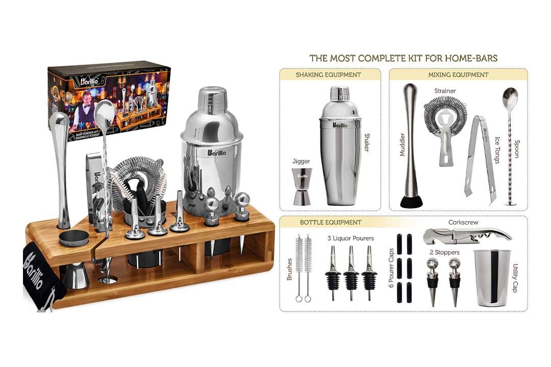 Elite 23-Piece Bartender Kit Cocktail Shaker Set
