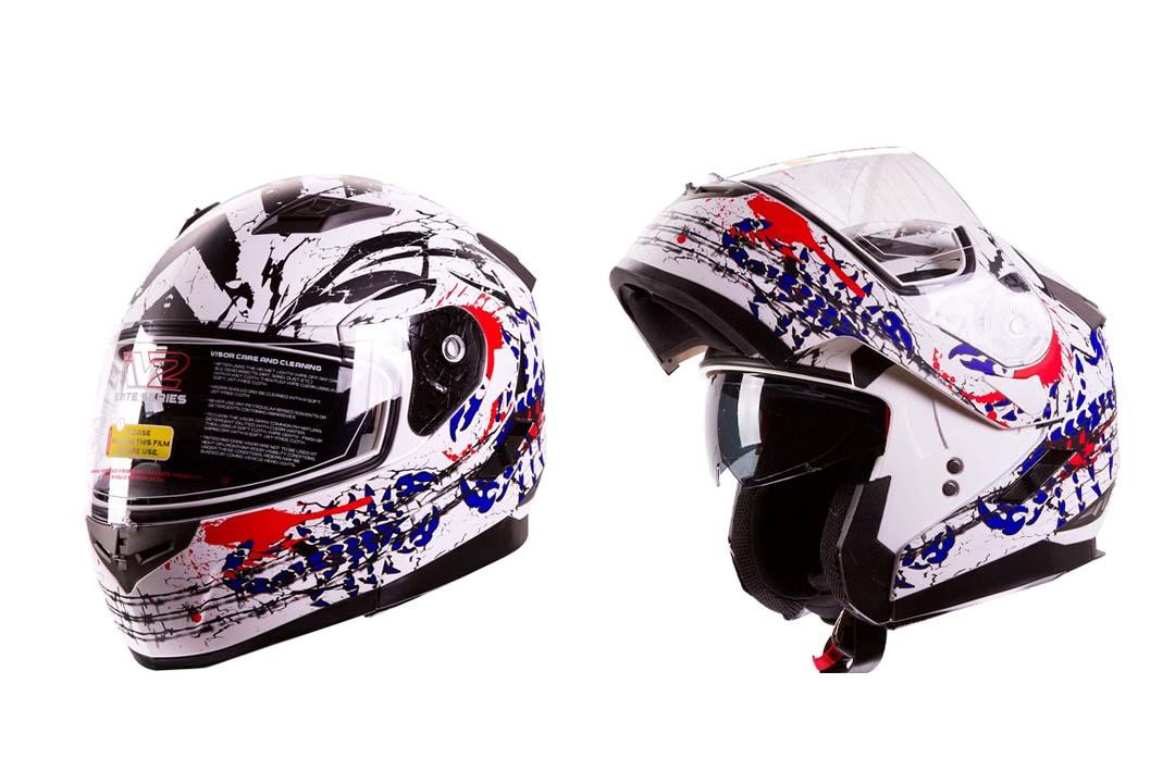 "IV2 ""Blood Scorpion"" Modular Dual Visor Motorcycle / Snowmobile Helmet"