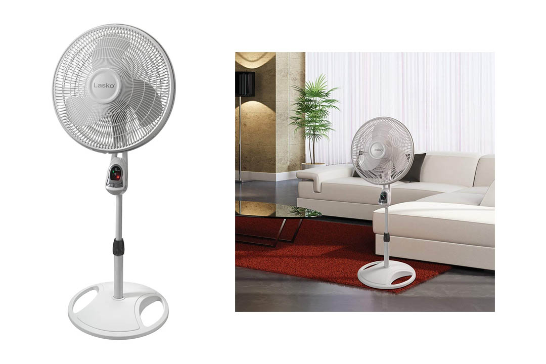 Lasko 1646 16″ Remote Control Pedestal Fan with Built-in Timer
