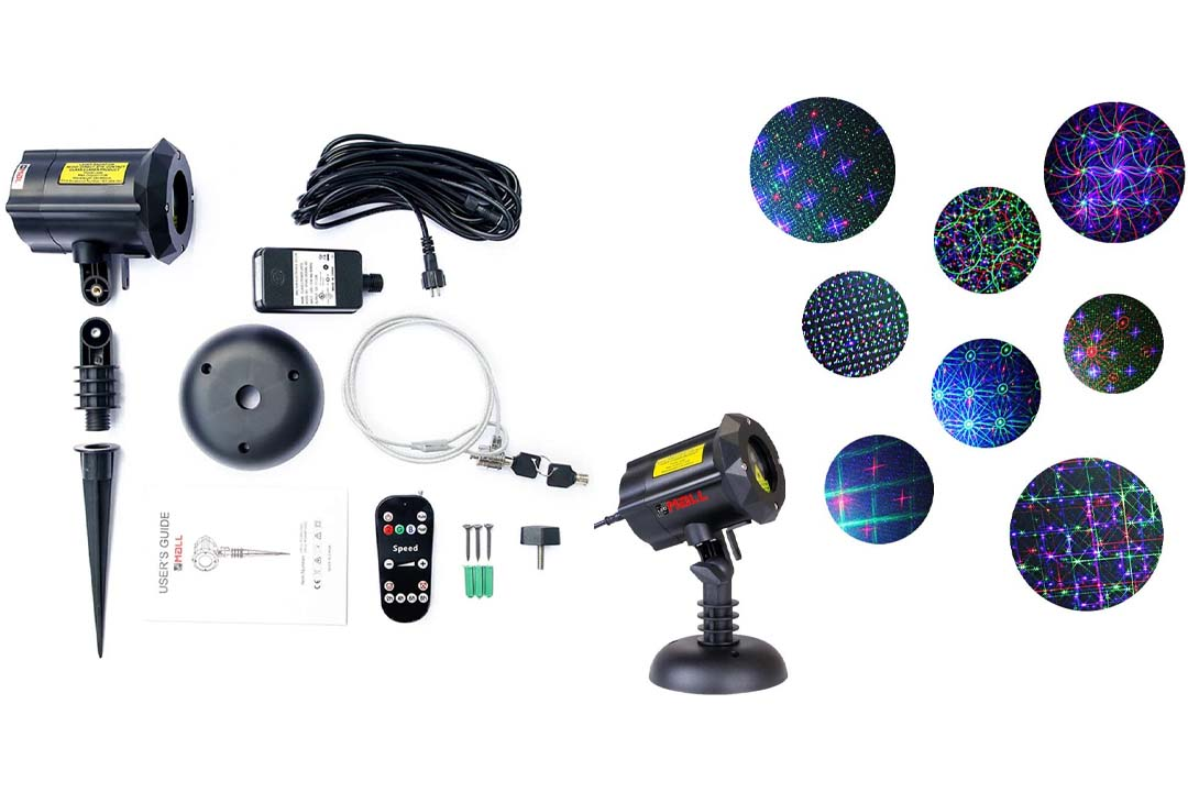 LedMAll® Motion 8-Patterns-in-1 RGB Outdoor Garden Laser Christmas Lights