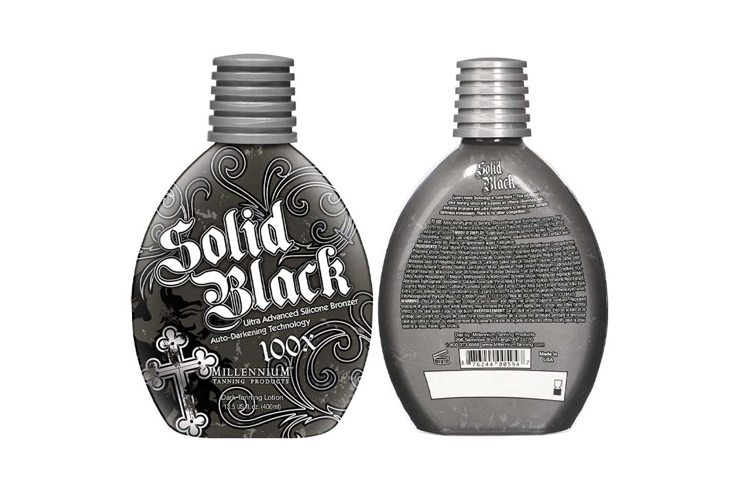Millenium Tanning New Solid Black Bronzer Tanning Bed Lotion