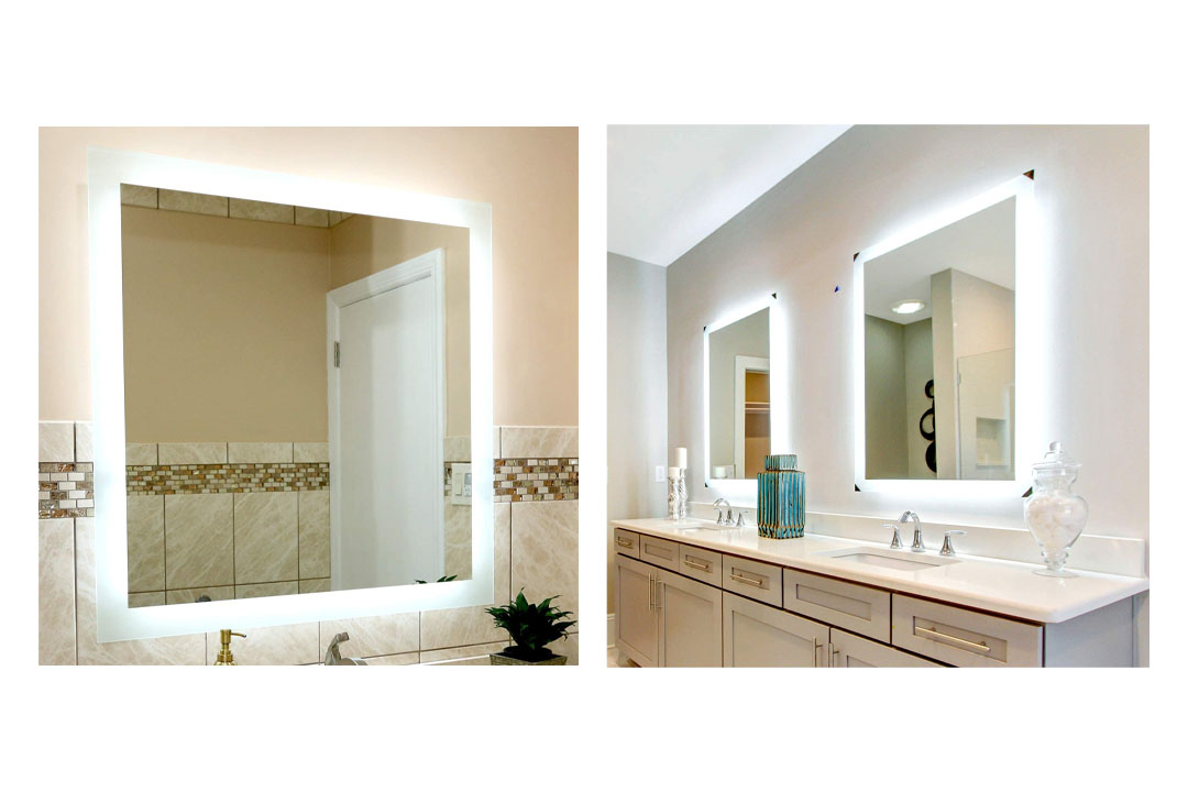 Mirror and Marble Side Lighted