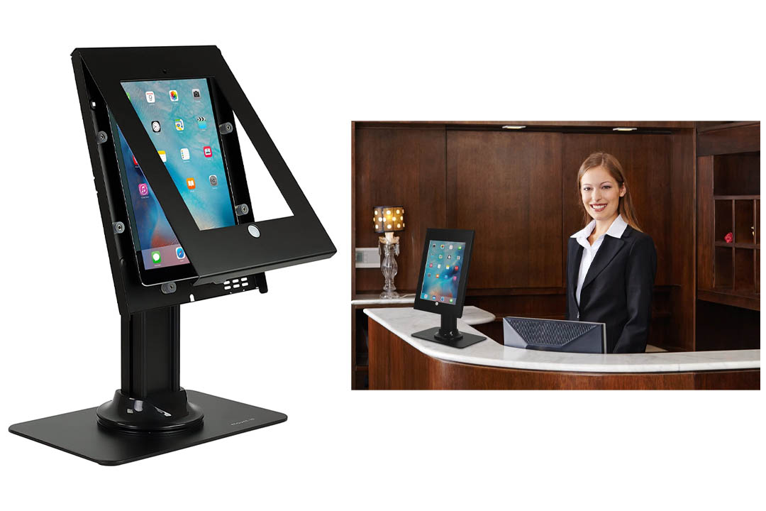 Mount-It! Full Motion iPad Security Stand, Locking Kiosk Tablet Holder