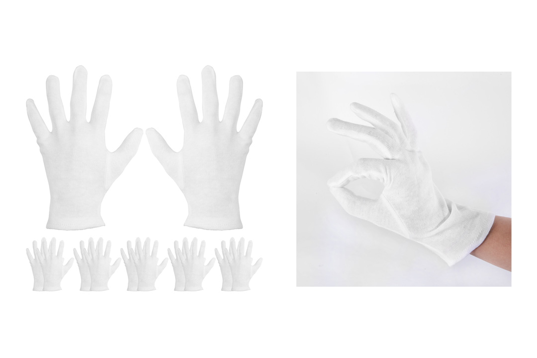 Mudder 6 Pairs Cotton Cosmetic Gloves