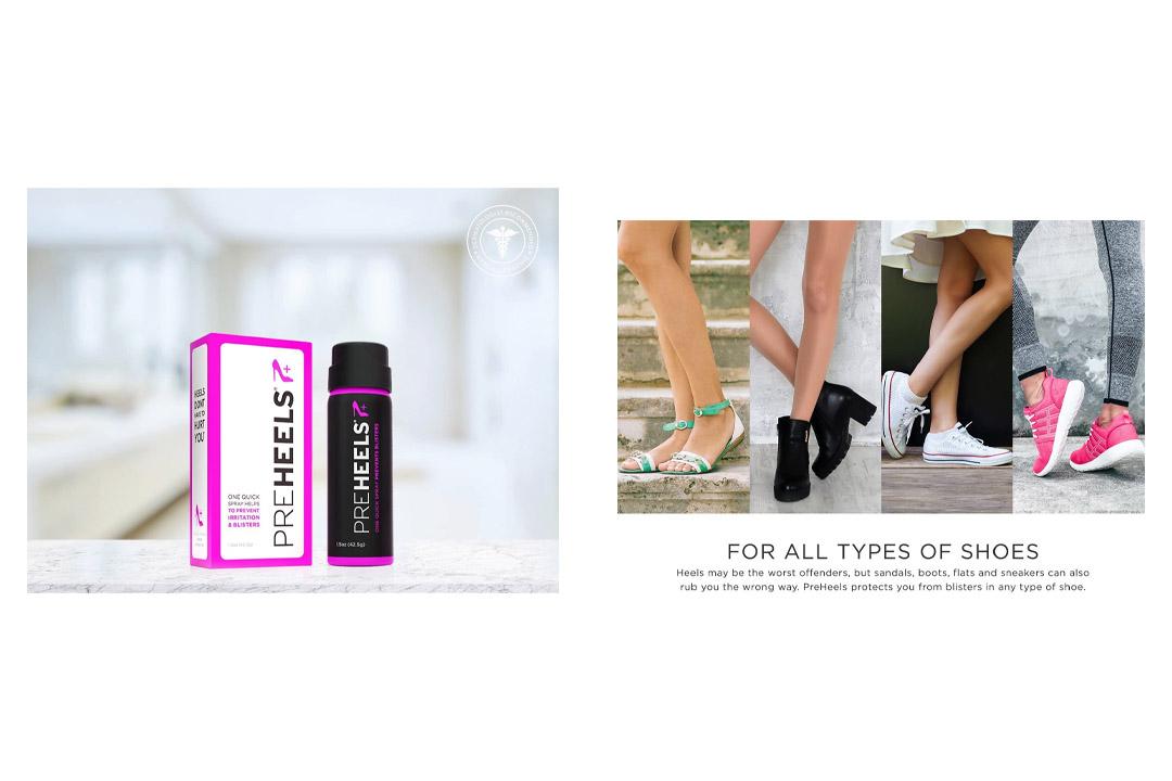 PreHeels Clear Blister Prevention Spray (Mini Size)