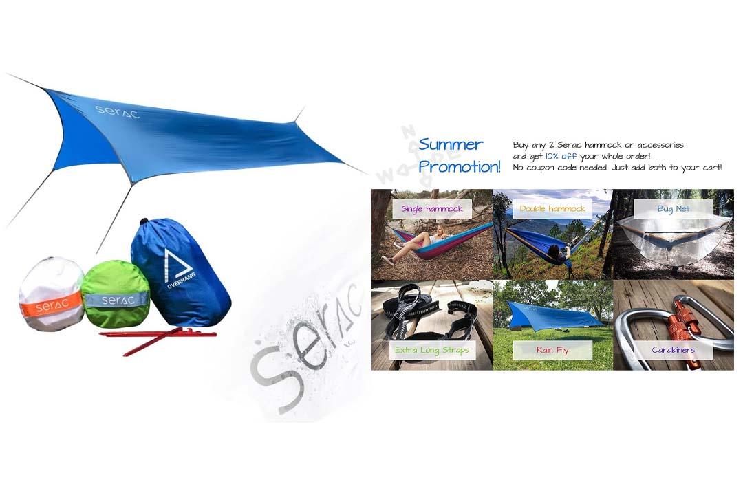 Serac Hammock and Tent Tarp Ultralight Hammock Rain Fly and Shelter