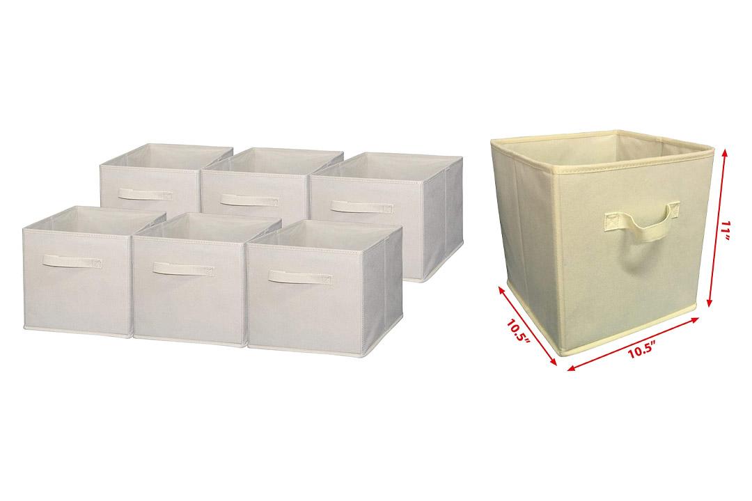 Sodynee Foldable Cloth Storage Cube Basket Bins Organizer Containers Drawers