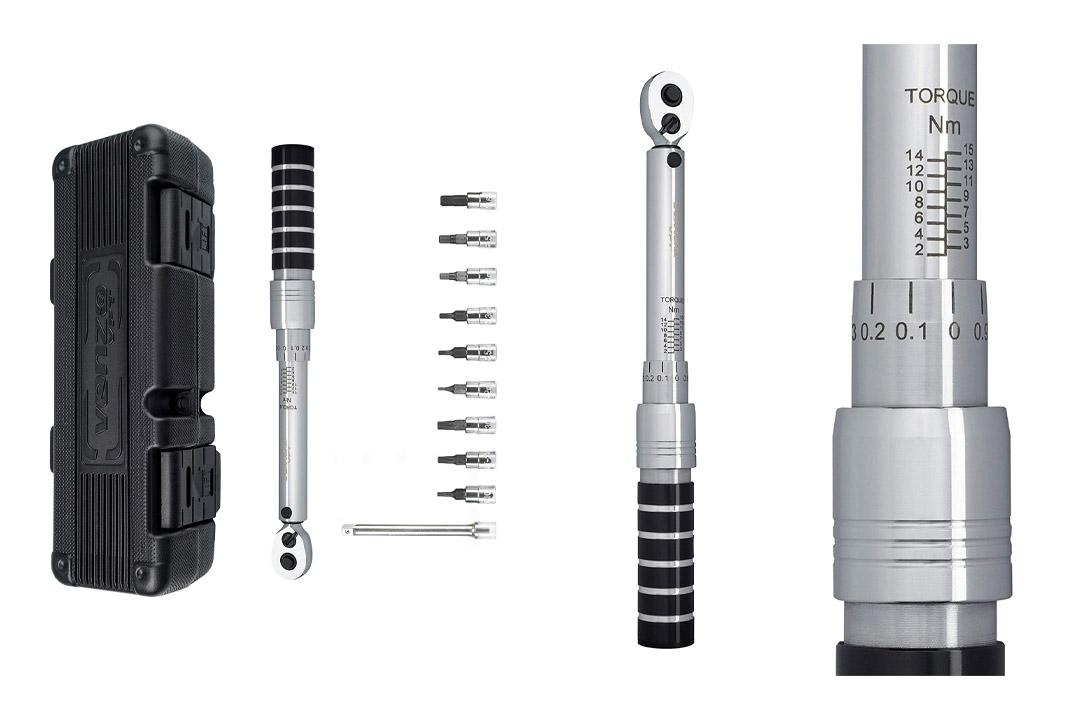 "Venzo 1/4"" Premium Bike Bicycle Torque Wrench Allen Key Tool Socket Kit"