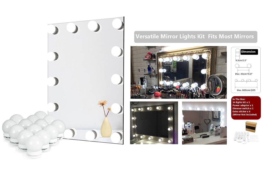 Waneway Hollywood DIY Vanity Lights Strip Kit for Lighted Makeup