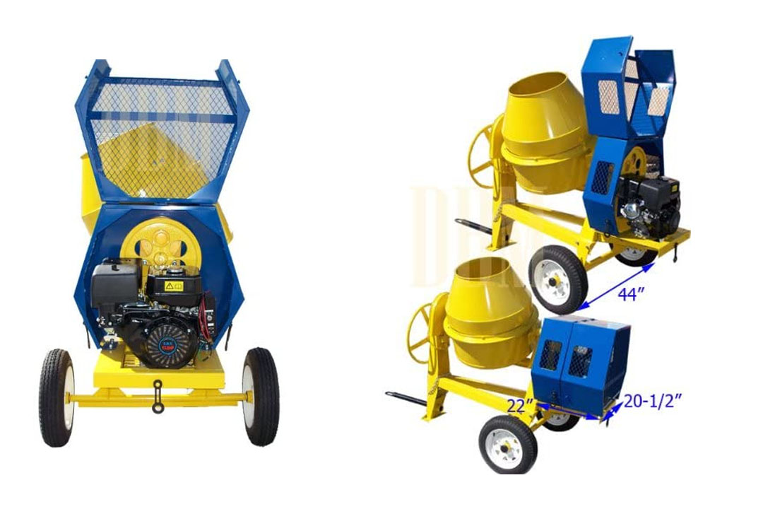9 CU Cubic Concrete Cement Mixer 13HP Electric Gas Gasoline
