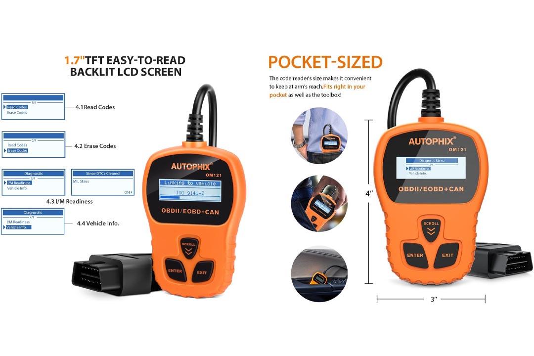Autophix OM121 Handheld Universal Automotive Can Diagnostic Scan Tool