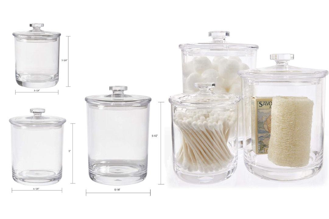 Break-resistant Plastic Apothecary Jars