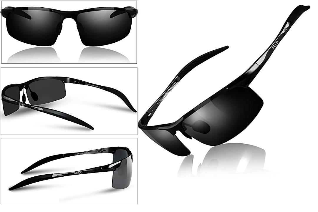Duco Men's Sports Polarized Sunglasses