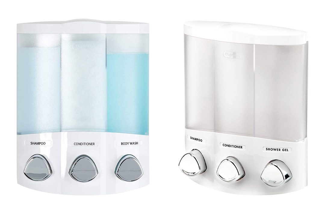 Euro Series TRIO Three Chamber Soap and Shower Dispenser