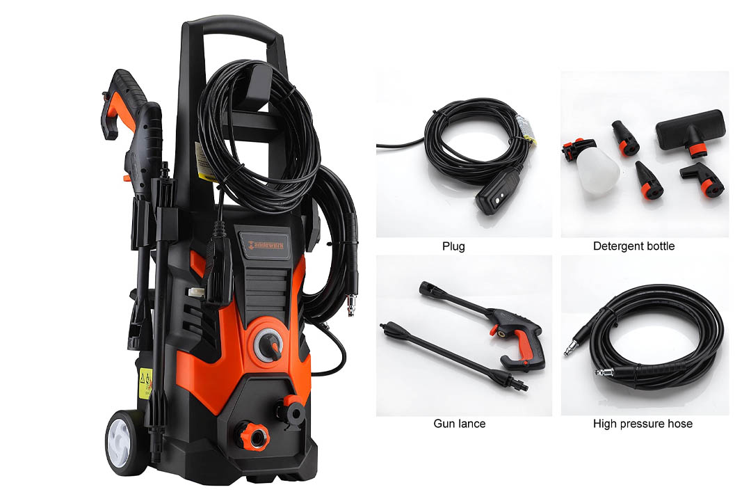 Händewerk 13 AMP 1.5GMP 1900 PSI Electric Pressure Washer