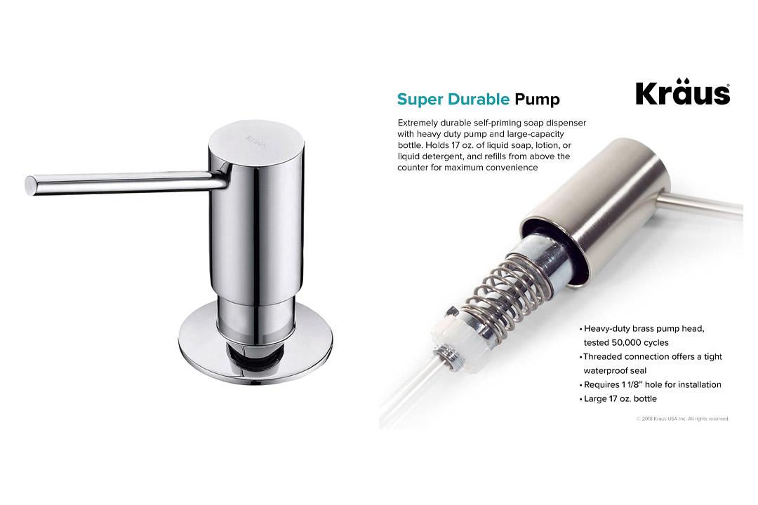 Kraus KSD-41CH Modern Soap Dispenser