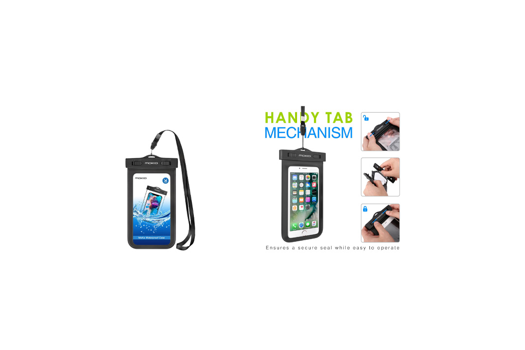 MoKo Cellphone Dry Bag with Armband Neck Strap for iPhone 7