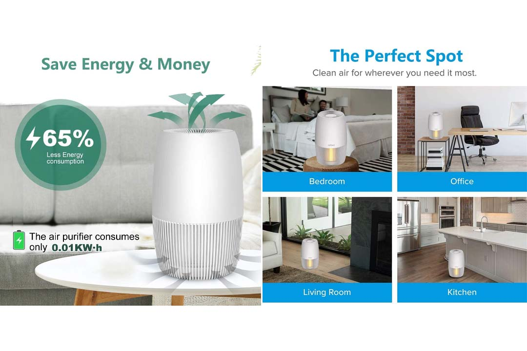 OION LB-8001W 5-in-1 Air Cleaning System with True HEPA