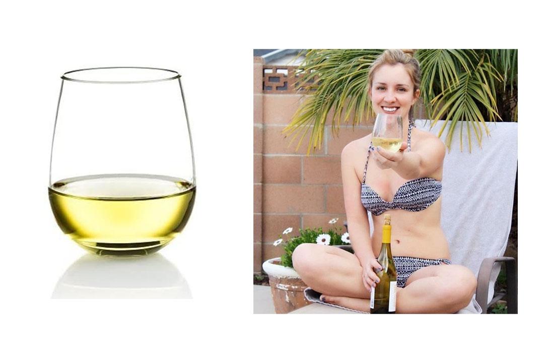Poolside Unbreakable Stemless Plastic Wine Glasses