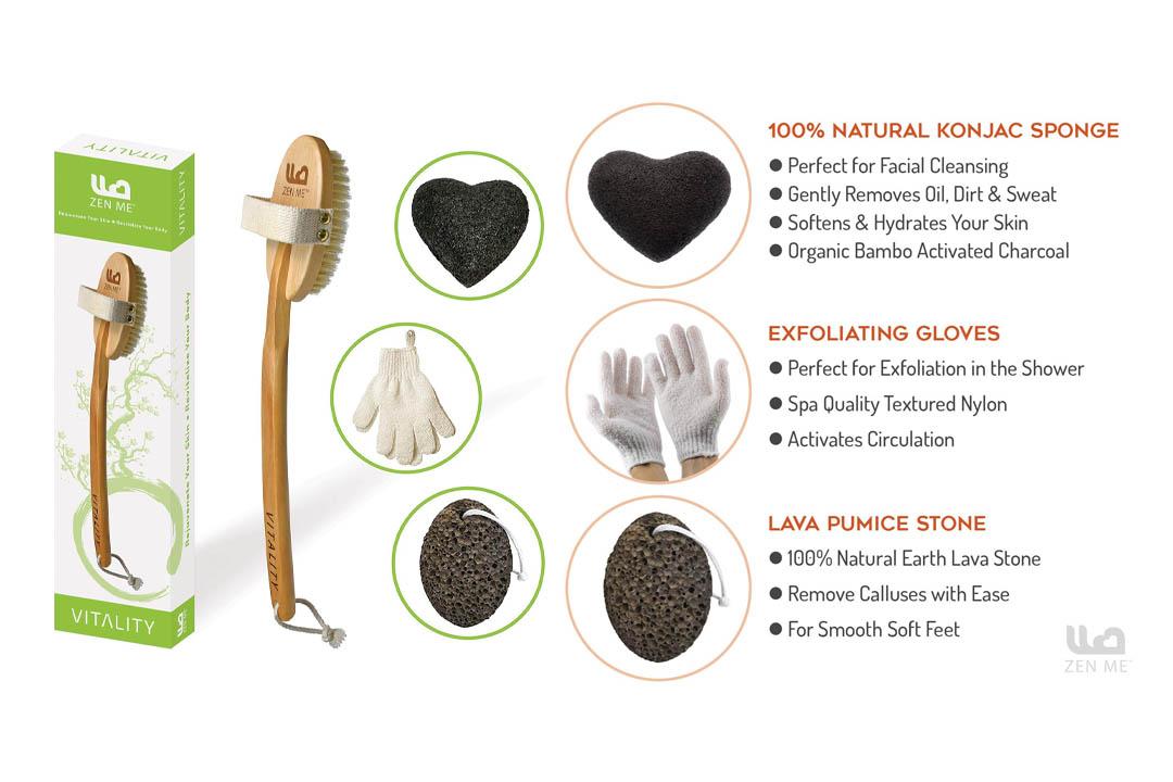 Premium Dry Brushing Body Brush