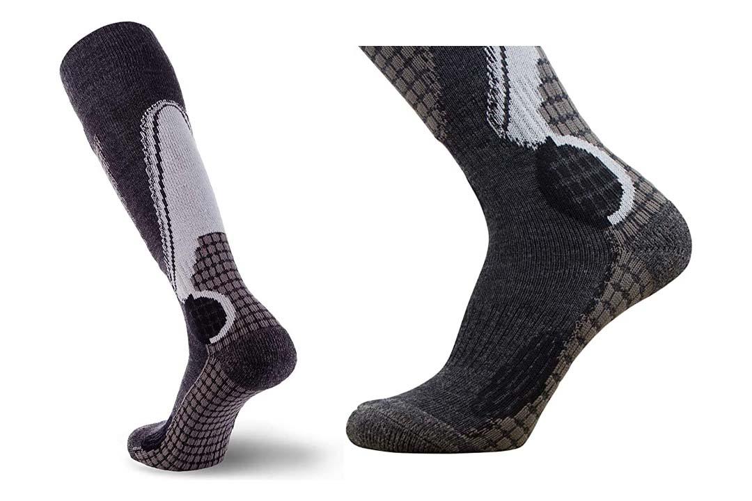 PureAthlete High Performance Wool Ski Socks