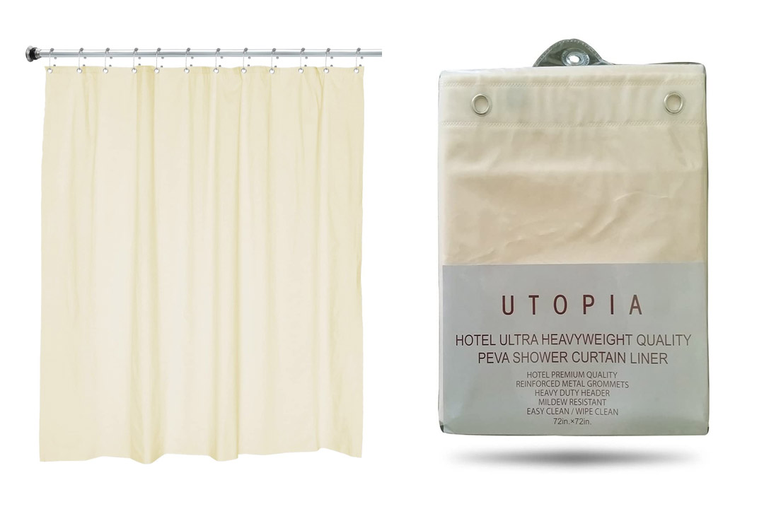 Utopia 100% PEVA Shower Curtain