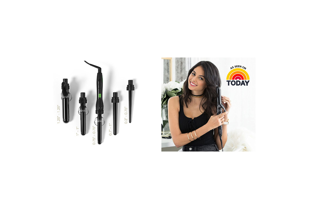 Xtava 5 in 1 Professional Curling Iron and Wand Set