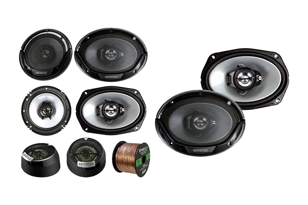 3 Pair Car Speaker Package of 2X Kenwood KFC1665S 6.5""