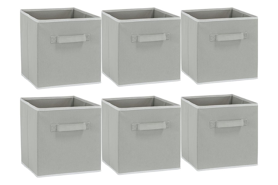 6 Pack - SimpleHouseware Foldable Cube Storage Bin