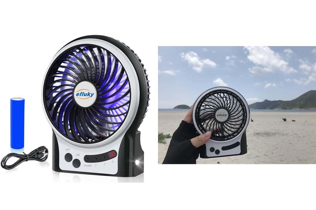 Efluky 3 Speed Mini Handheld Fan, Mini Portable Fan Electric USB Fan