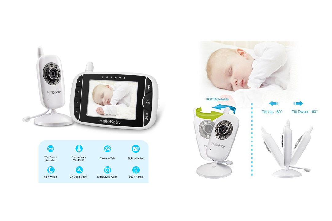 HelloBaby HB32 Wireless Video Baby Monitor with Digital Camera