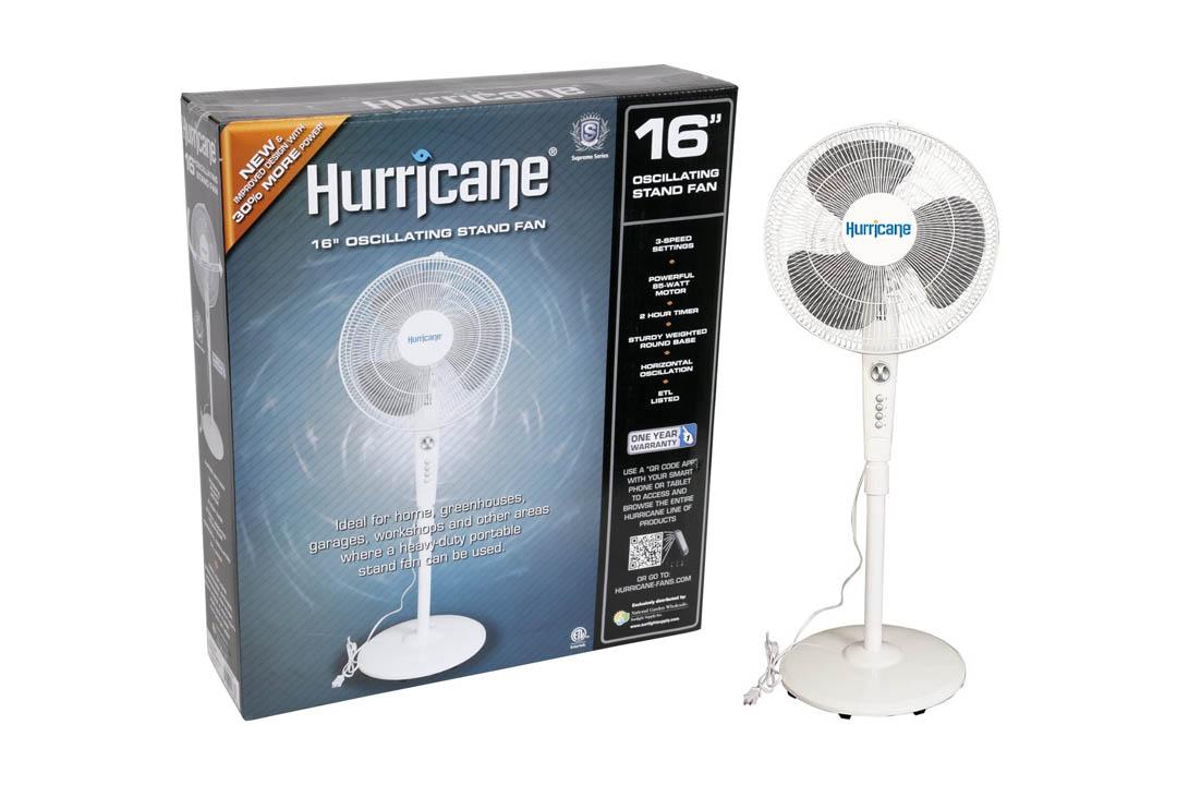 Hurricane Stand Fan - 16 Inch   Supreme Series  90 Degree Oscillation