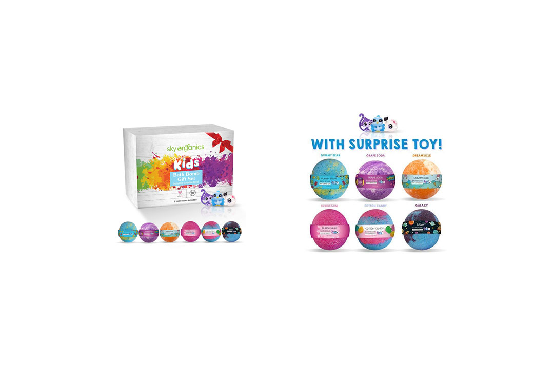 Kids Bath Bombs Gift Set with Surprise Toys