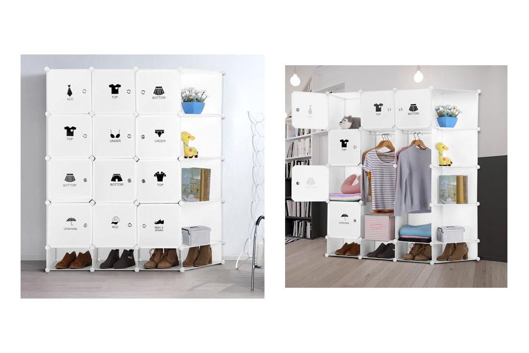 LANGRIA 12-Cube DIY Muti-use Portable Drawer Closet Wardrobe