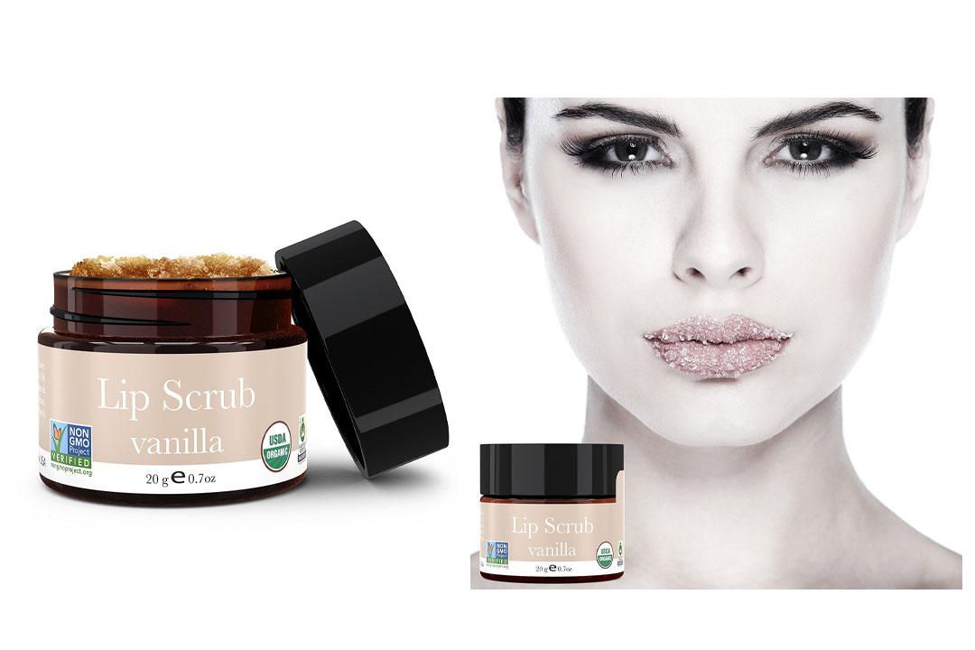 Lip Scrub, Vanilla Flavor - Organic Exfoliating Sugar Scrubs