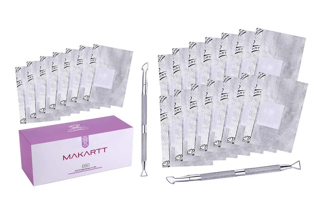 MAKARTT 200Pcs/Box Nail Gel Polish Remover