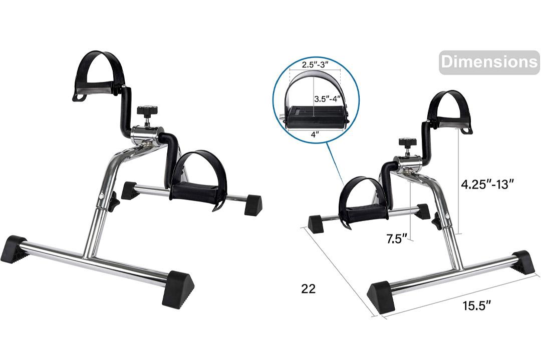 Medical Pedal Exerciser Chrome Frame